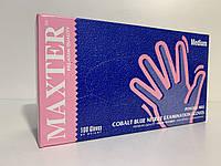 Рукавички нестерильні нітрилові оглядові неприпудрені, торгової марки MAXTER колір Cobalt Blue, розмір М