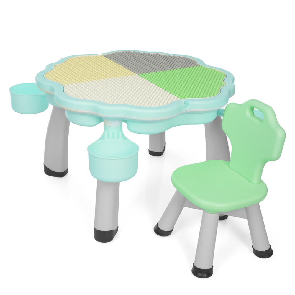 *Комплект меблів для складання конструктора (столик+стільчик) TM Bambi арт. 2020-3-4