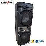 Колонка акумуляторна Leisound partybox c радіомікрофоном (200W/USB/BT/FM/), фото 4