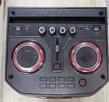 Колонка аккумуляторная Leisound partybox c радиомикрофоном (200W/USB/BT/FM/), фото 2