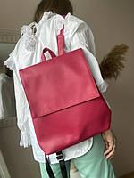 Малиновий жіночий рюкзак екокожа KL1x38