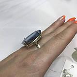 Агат 18,5 р. агатовая жеода кольцо с камнем жеода агата в серебре Индия, фото 5