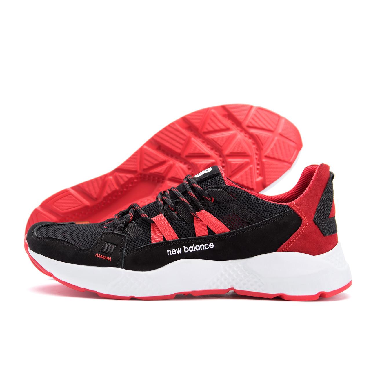 Мужские летние кроссовки сетка New Balance Black Red