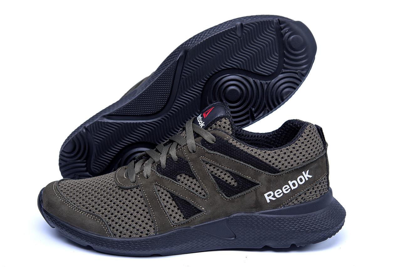 Мужские летние кроссовки сетка Reebok Classic Green зеленые