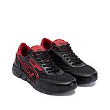 Чоловічі кросівки літні сітка Puma Anzarun чорні з червоним, фото 4