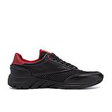 Чоловічі кросівки літні сітка Puma Anzarun чорні з червоним, фото 5
