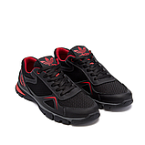 Чоловічі кросівки літні сітка Adidas Tech Flex чорні з червоним, фото 4