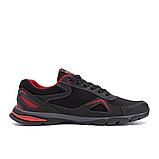 Чоловічі кросівки літні сітка Adidas Tech Flex чорні з червоним, фото 5