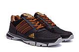 Мужские летние кроссовки сетка Adidas Tech Flex Brown, фото 5