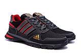 Мужские летние кроссовки сетка Adidas Tech Flex Black, фото 4