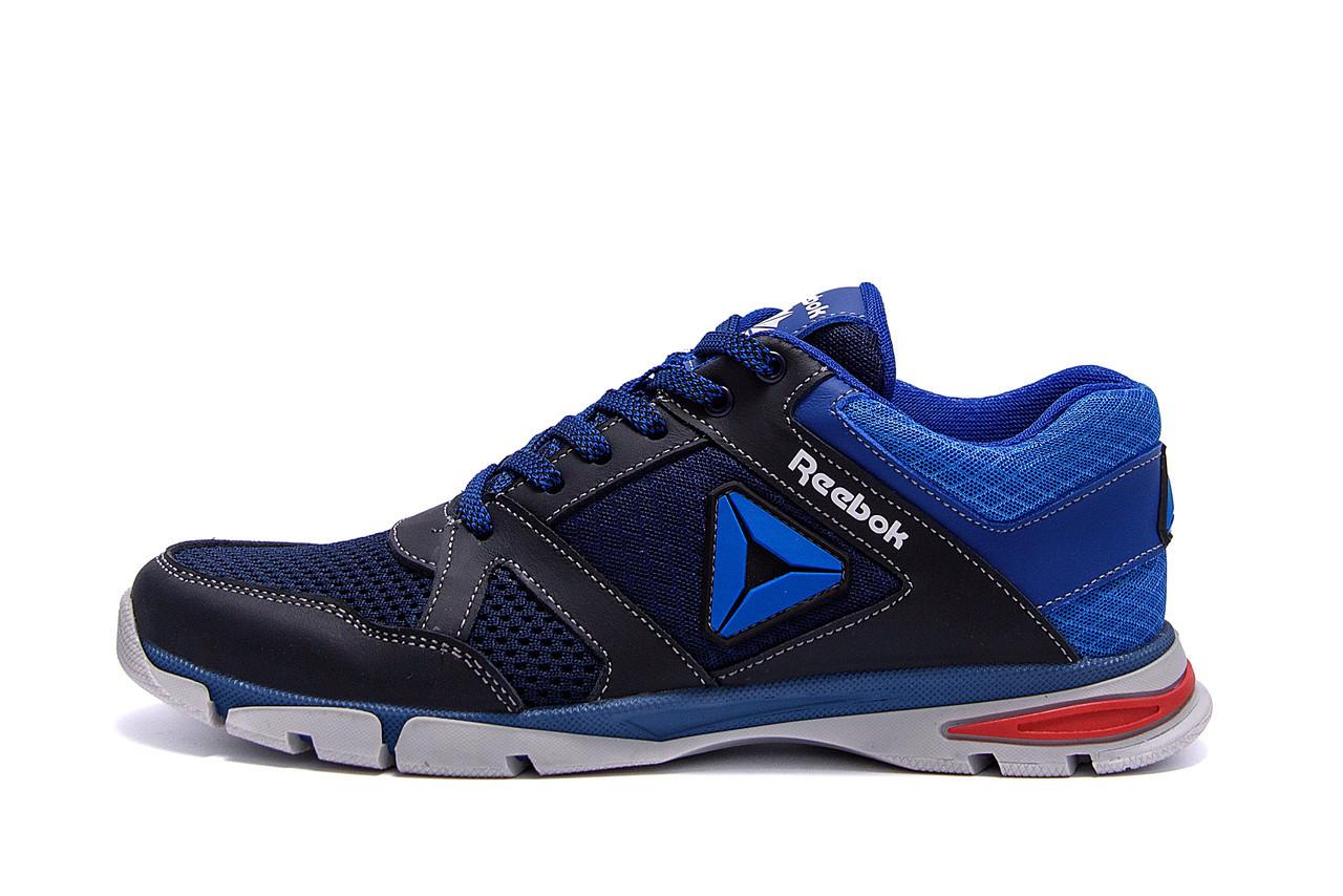 Мужские летние кроссовки сетка Reebok, синие