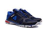 Мужские летние кроссовки сетка Reebok, синие, фото 4