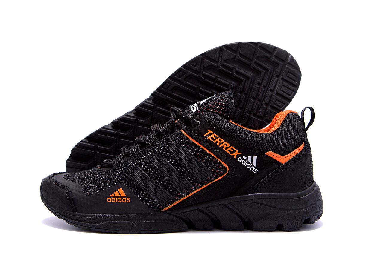 Чоловічі кросівки літні сітка Adidas Terrex чорні