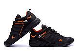 Чоловічі кросівки літні сітка Adidas Terrex чорні, фото 3