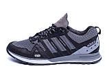 Чоловічі кросівки літні сітка Adidas Summer Grey сірі, фото 6