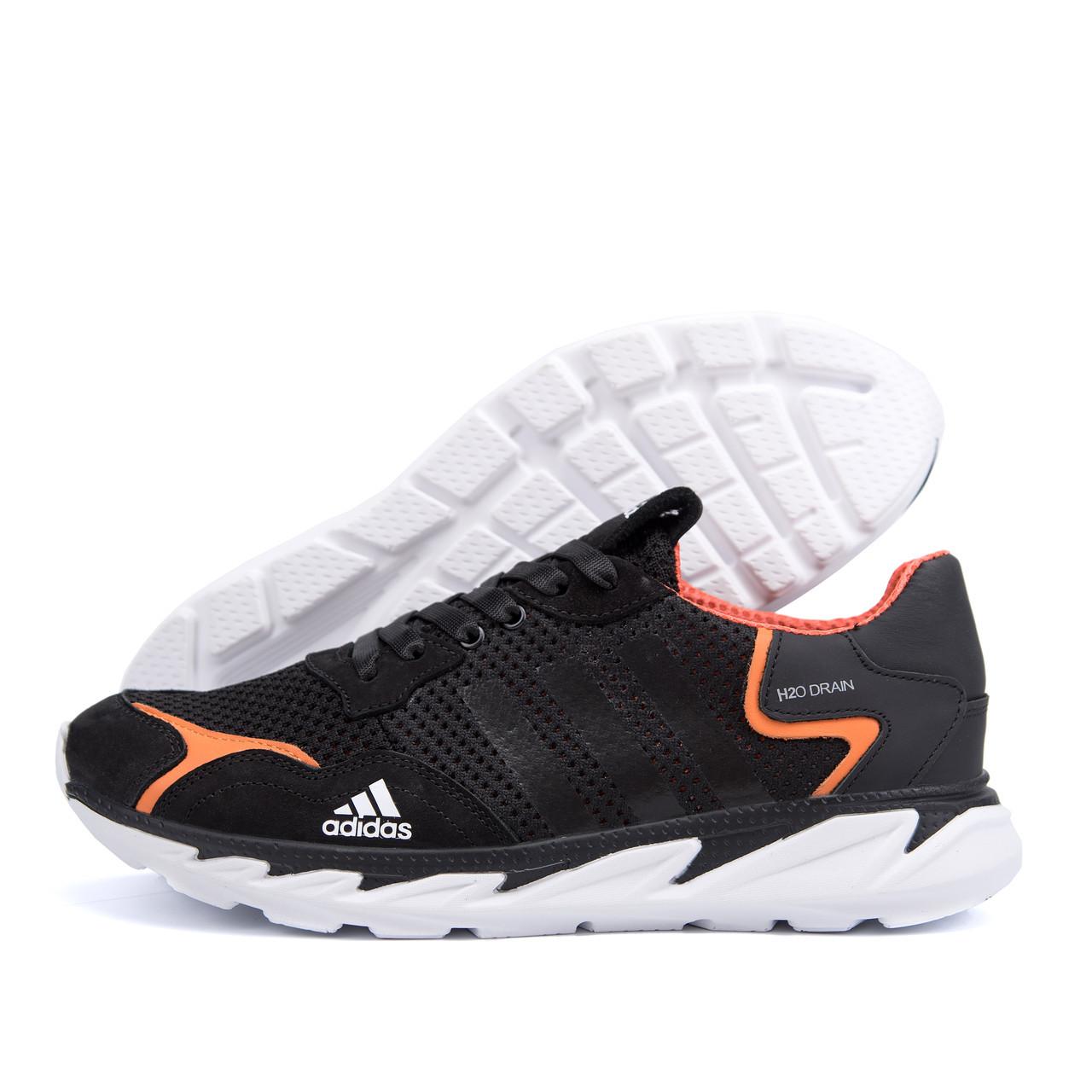 Мужские летние кроссовки сетка Adidas Terrex черные