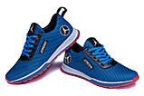 Чоловічі кросівки літні сітка Jordan blue сині, фото 4