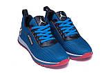 Чоловічі кросівки літні сітка Jordan blue сині, фото 5