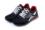 Чоловічі кросівки літні сітка Reebok чорні, фото 4