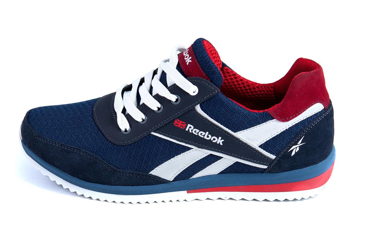 Чоловічі кросівки літні сітка Reebok сині