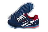 Чоловічі кросівки літні сітка Reebok сині, фото 3