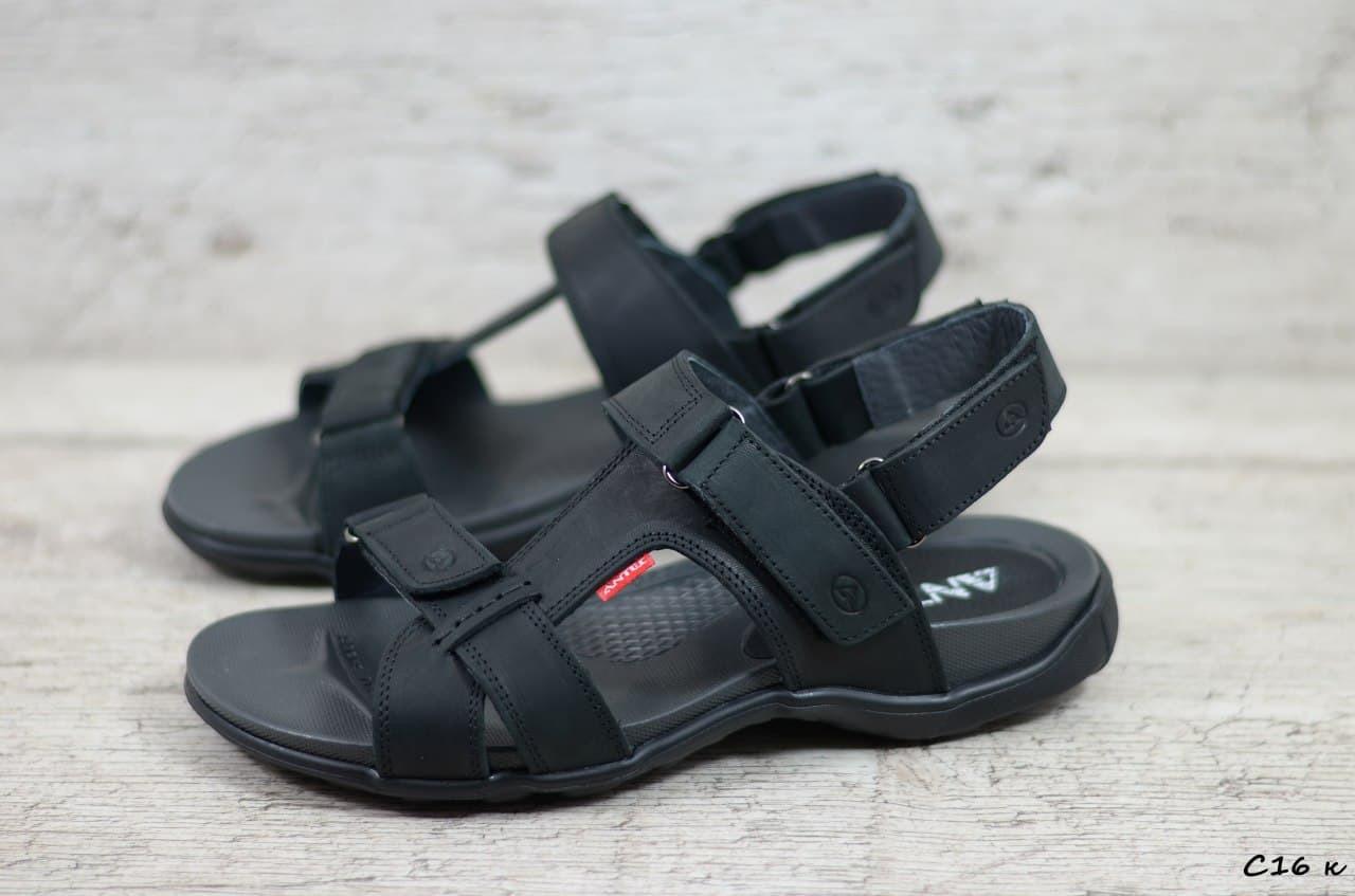 Мужские кожаные сандалии Antec, черные