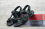 Мужские кожаные сандалии Antec, черные, фото 2