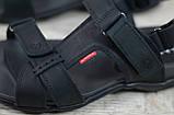 Мужские кожаные сандалии Antec, черные, фото 3