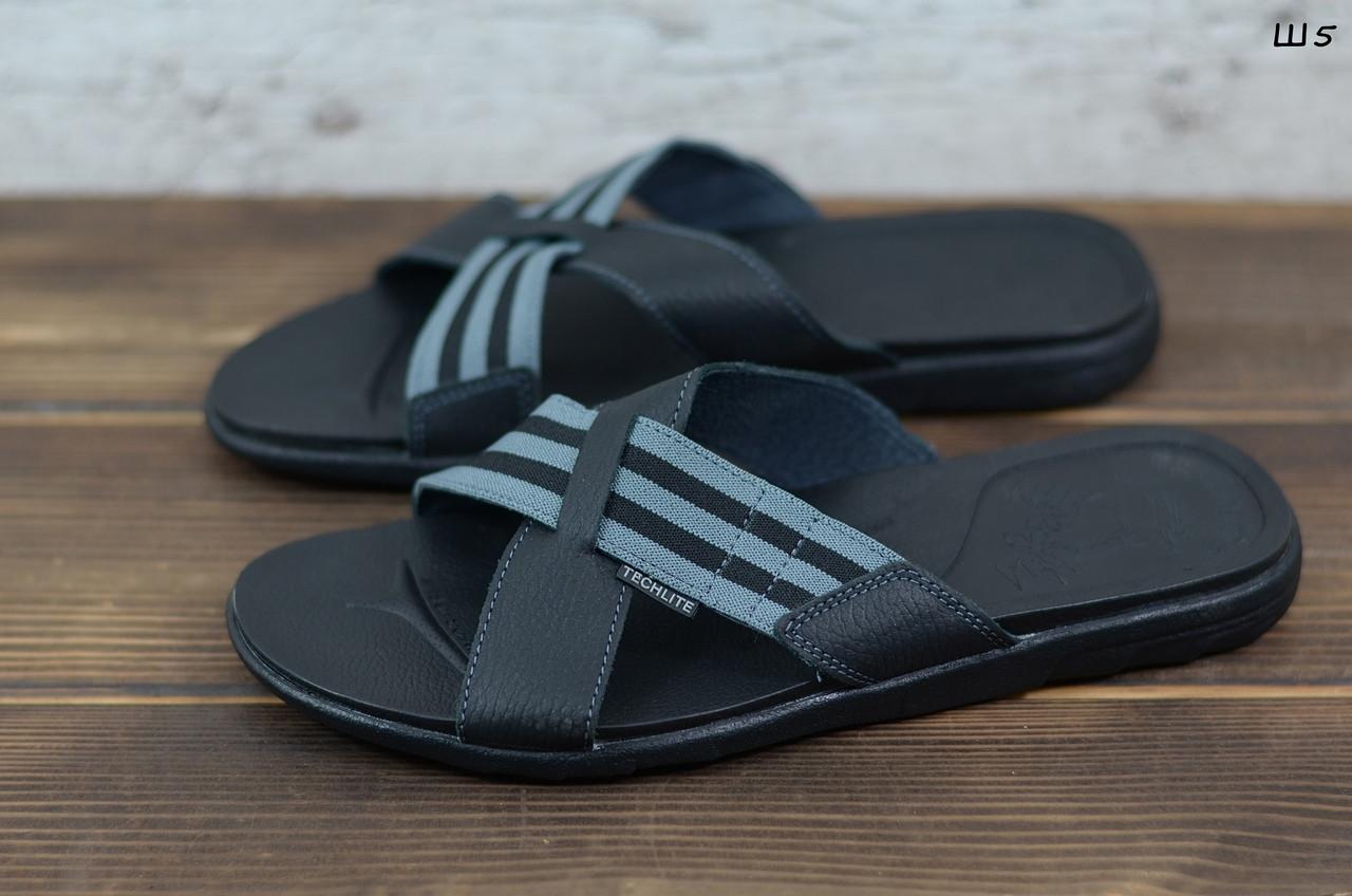 Мужские кожаные шлепанцы Clubshoes, черные