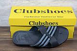 Мужские кожаные шлепанцы Clubshoes, черные, фото 2