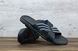 Мужские кожаные шлепанцы Clubshoes, черные, фото 3