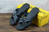 Мужские кожаные шлепанцы Clubshoes, черные, фото 4