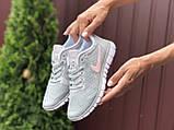 Жіночі літні, легкі кросівки Nike Free Run 3.0 сірі, фото 2