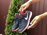 Женские летние, легкие кроссовки Nike Free Run 3.0 темно синие, фото 3