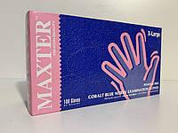 Рукавички нестерильні нітрилові оглядові неприпудрені, торгової марки MAXTER колір Cobalt Blue, розмір ХL
