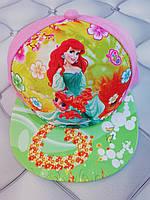Кепка  девочке рэперка Принцесса Ариэль, р. 52, розовая, джинс