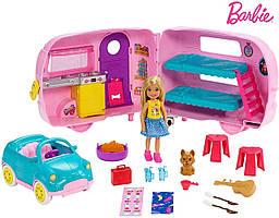Игровой набор Челси и фургон для кемпинга Mattel Barbie Club Chelsea Camper Уценка