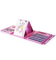 Набор для рисования Art set мольбертом (208 предметов) Розовый