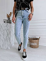Жіночі стильні укорочені джинси МОМ, фото 1