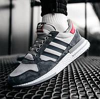 Мужские кроссовки Adidas ZX 500 RM демисезонные весна-осень замшевые. Фото в живую. Адидас зх 500