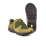 Кросівки літні Мустанг нубук/сітка олива, фото 4