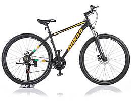 Велосипед KONAR KA-29″18# 21S, алюминиевая рама 18, колеса 29 дюймов, черно-оранжевый