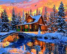 Картины по номерам Зимние Сюжеты