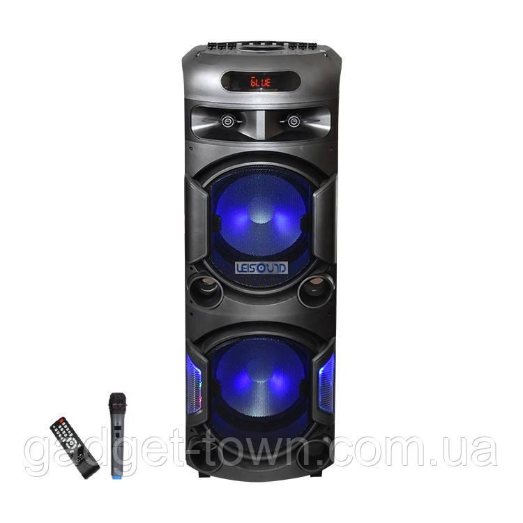 Колонка акумуляторна Leisound partybox BIG c радіомікрофоном (300W/USB/BT/FM/)