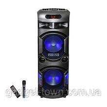 Колонка аккумуляторная Leisound partybox BIG c радиомикрофоном (300W/USB/BT/FM/)