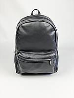 Чорний чоловічий рюкзак екошкіра