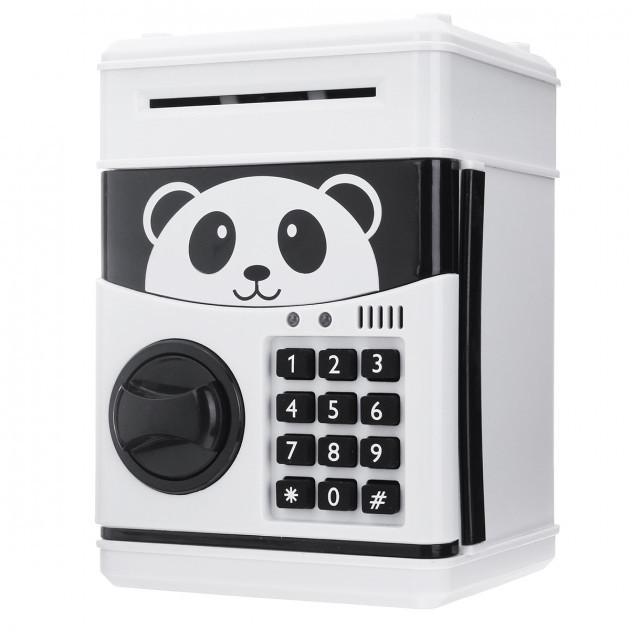 Сейф копилка панда с купюроприемником