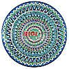 Ляган (узбецька тарілка) 42х5см для подачі плову керамічний (ручна розпис) (варіант 7)