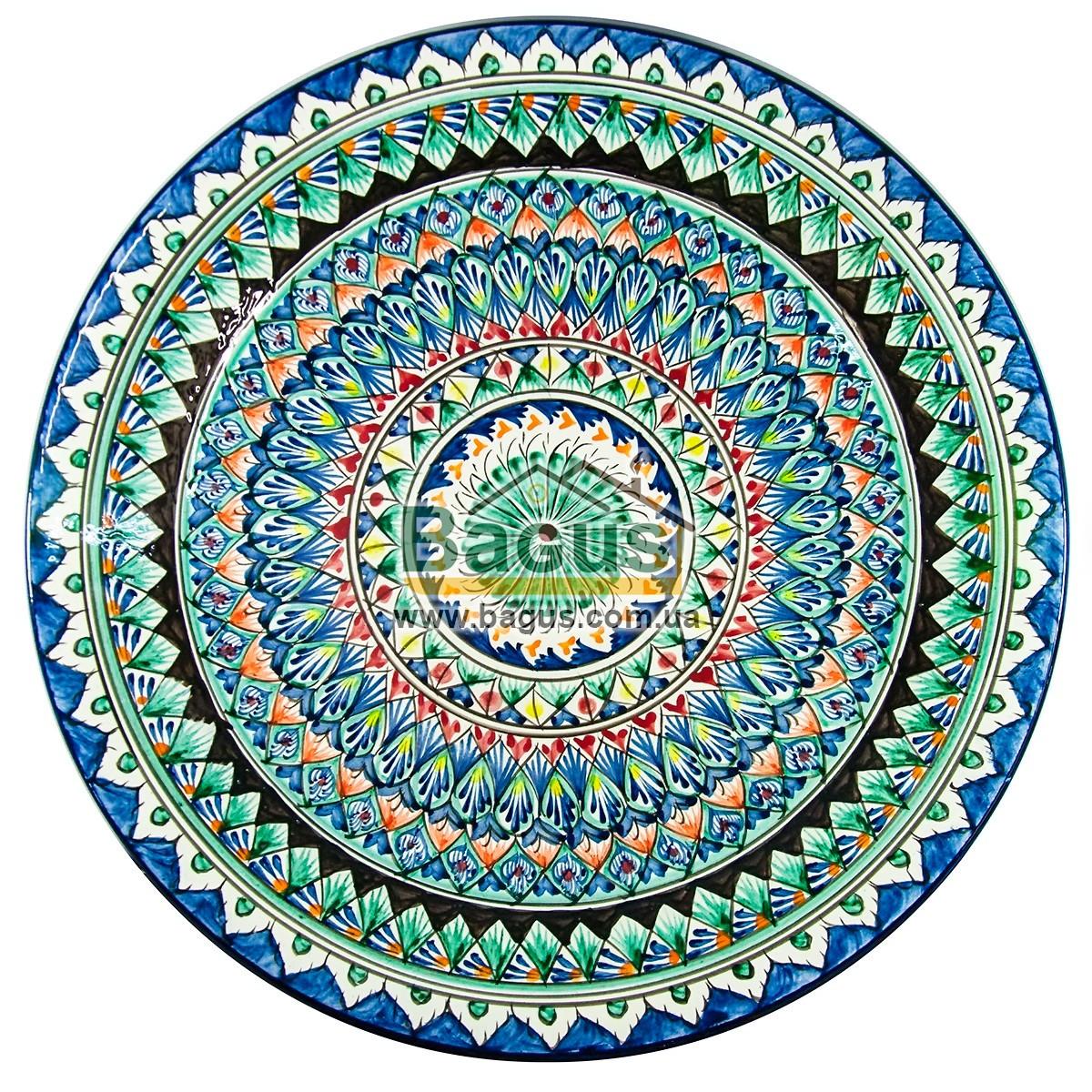 Ляган узбекский (тарелка узбекская) диаметр 42см ручная работа 4205-11
