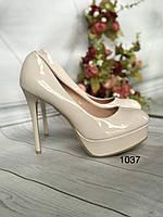 Туфлі жіночі класичні,високий каблук,платформа, фото 1